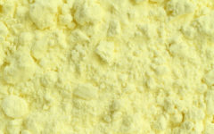 Sulfur powder texture