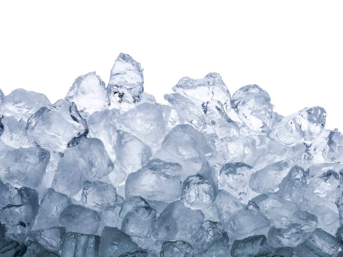 pile of ice